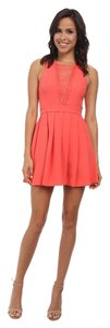 BCBGeneration short dress Coral Cocktail Date Night Wedding Guest on Tradesy