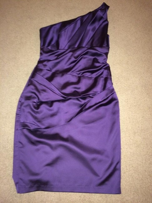 Item - Lapis Stretch Satin 85106 Sexy Bridesmaid/Mob Dress Size 8 (M)
