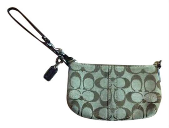 Coach Large Brown Coach Wristlet