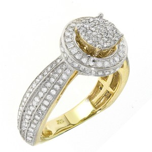 10k Yellow Gold 1.05ct Tdw Diamond Beautiful Engagement Ring (g-h I1-i2)