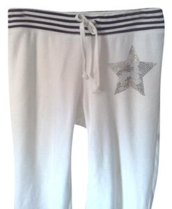 poof excellence Skater Star Beaded Jewel Athletic Pants white