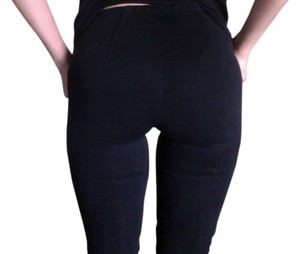 Fade to Blue Neiman Marcus Pants Pants Tight Fit Sleek Slim Fit Skinny Fitting Sexy Tight Smooth Low Rise Low Waist Side Zip Dressy Night Out New Jeggings-Dark Rinse