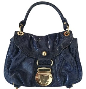 Hype Satchel in Deep blue