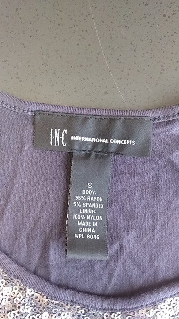 INC International Concepts Top Greyish w/ sequins
