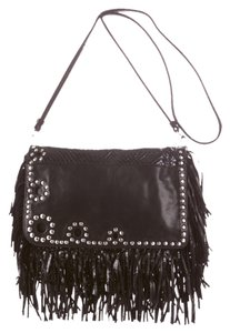 Jimmy Choo Fringe Messenger Leather Cross Body Bag