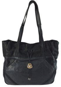 See by Chloé Leather Snake Embossed Shoulder Bag