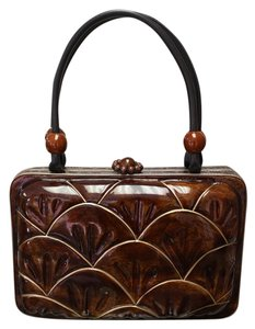 Tixxi & Co Handmade Handbag Wooden Shell Baguette