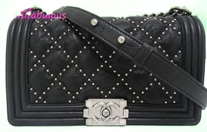 Chanel Boy Studded Messenger Flap Classic Shoulder Bag