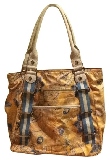 Tyler Rodan Purse Floral Diaper Tote in Blue Yellow White