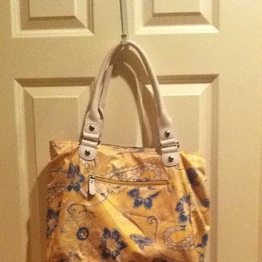 Tyler Rodan Large Purse Floral Diaper Tote in Blue Yellow White