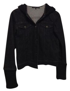 Theory Black Womens Jean Jacket