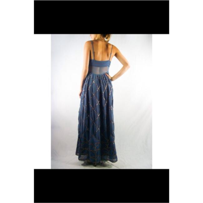 Blue/gold Maxi Dress by Free People