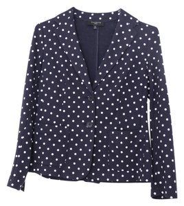 Talbots Polka Navy Jacket Like New Navy/white Blazer
