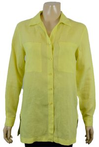 Peter Nygard Button Down Shirt NEON YELLOW