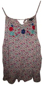 Forever 21 Floral Flowered Embroidered Top Pink, Cream, Red, Blue, Teal, Multi