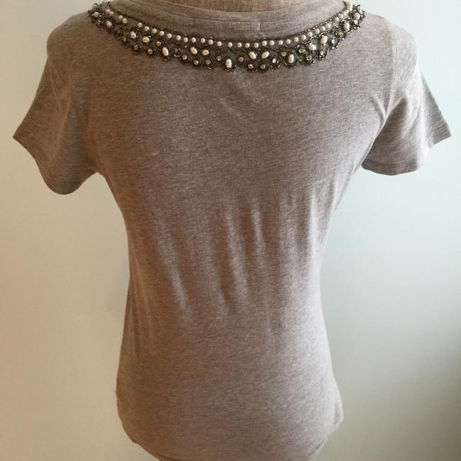 Lucky Brand Tees Summer Embellished Tees T Shirt Grey