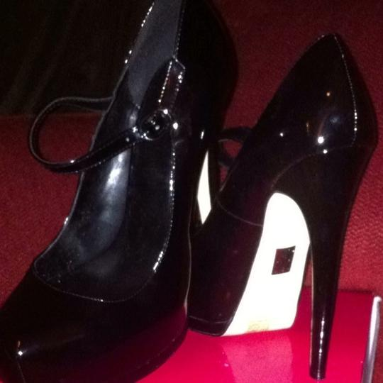 Truth or Dare by Madonna Black Patent Pumps