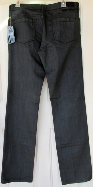 Mango New With Tags Glitter Straight Leg Jeans-Dark Rinse Image 3