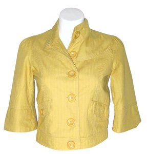 Forever 21 Crop Lined Yellow Jacket