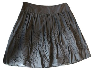 Ann Taylor LOFT Textured Design Skirt black