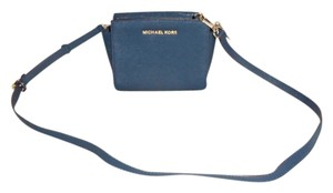 Michael Kors Navy Blue Messenger Bag