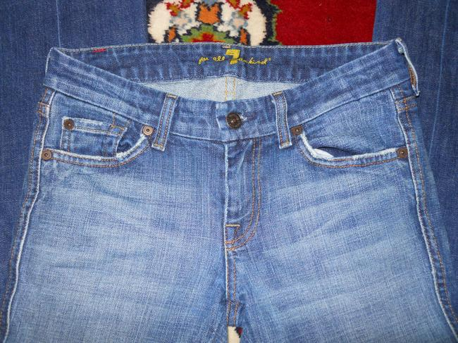 7 For All Mankind Boot Cut Jeans-Distressed Image 1