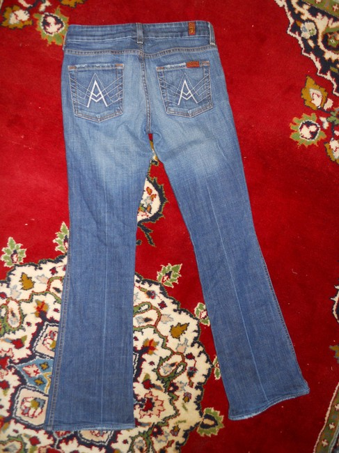7 For All Mankind Boot Cut Jeans-Distressed Image 5
