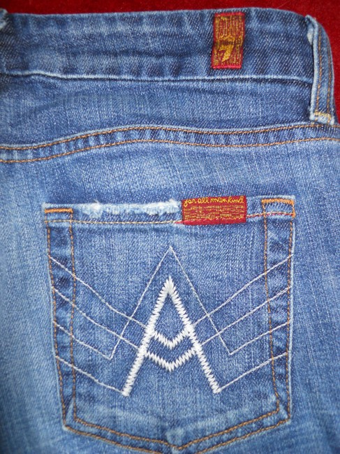 7 For All Mankind Boot Cut Jeans-Distressed Image 6