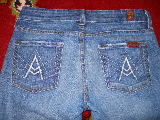 7 For All Mankind Boot Cut Jeans-Distressed Image 9