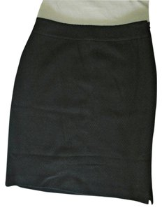 Ann Taylor Wool Side Pleat Mini Skirt Black