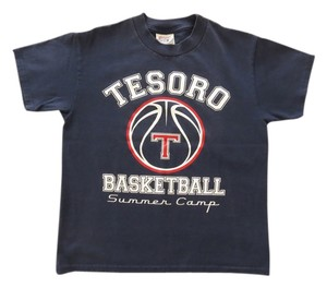 Other Vintage Navy Logo Tesoro Basketball Camp Unique T Shirt Navy blue