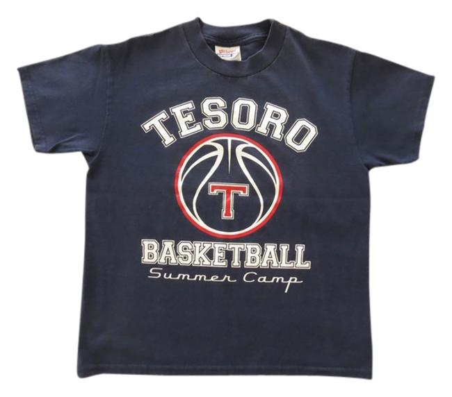 Other Vintage Logo Tesoro Basketball Camp Unique T Shirt Navy blue