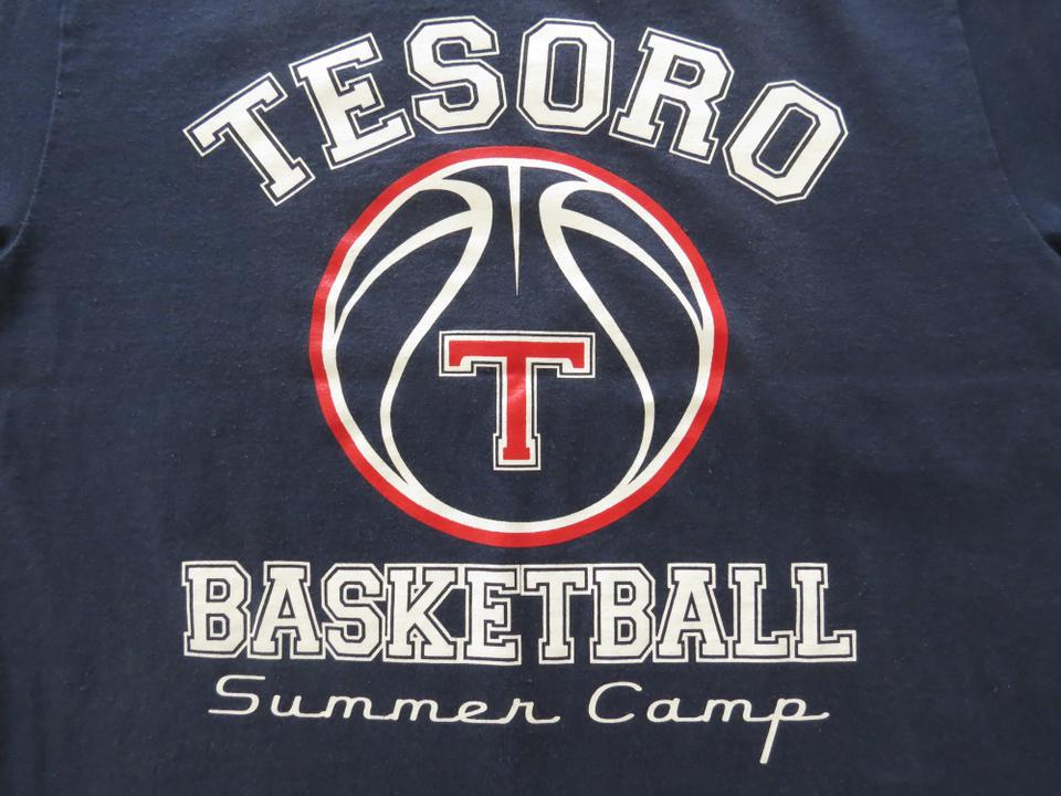 b1aa182283f7 Other Vintage Logo Tesoro Basketball Camp Unique T Shirt Navy blue Image 2.  123