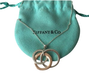 Tiffany & Co. Tiffany Silver Rubedo Interlocking Circles Necklace
