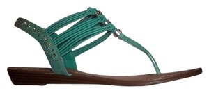 Madden Girl Elastic Wedge Sandal Mint Green Sandals