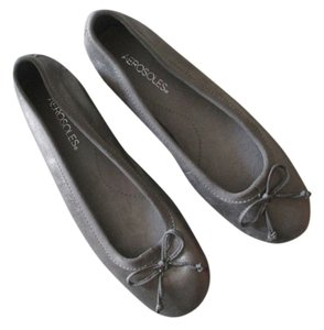 Aerosoles Ballet Bow Metallic Leather Silver Flats