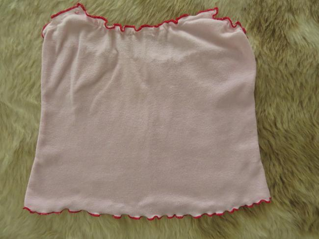 Forever 21 Tube Scalloped Soft Summer Casual Top Baby pink Image 1