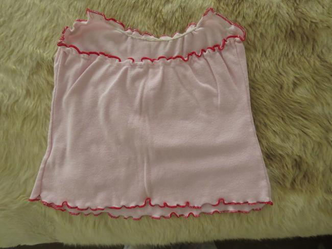 Forever 21 Tube Scalloped Soft Summer Casual Top Baby pink Image 2