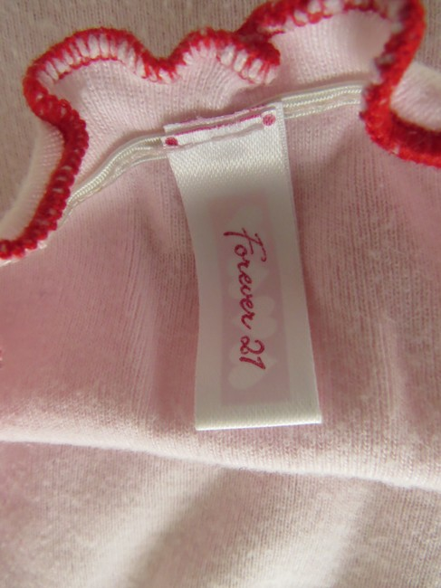 Forever 21 Tube Scalloped Soft Summer Casual Top Baby pink Image 4