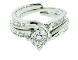 WHOLESALE Designer Engagement wedding diamond .60 carat (1/2 ct on sides) & gold ring band