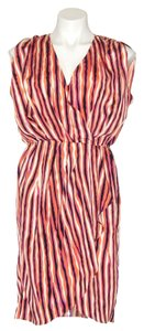 MM Couture Mm By Miss Me Striped Faux Wrap Dress
