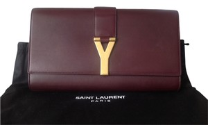 Saint Laurent Burgundy Clutch