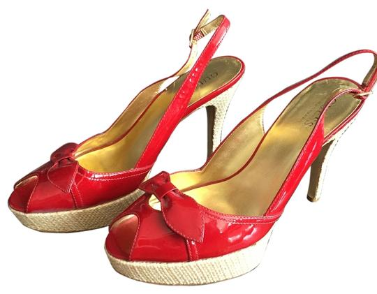 Guess Patent Slingback Red Sandals