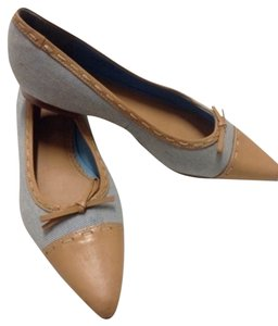 Lands' End Pointed Toe blue Flats