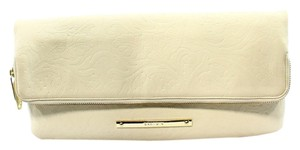 Brahmin Leather Creme Clutch