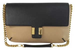 Chloé Amelia Leather beige and black Clutch