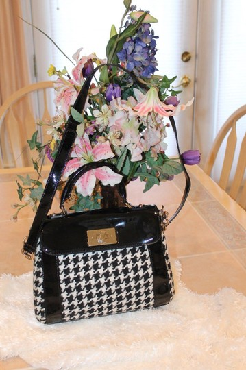 Kate Spade Satchel in black and white houndstooth