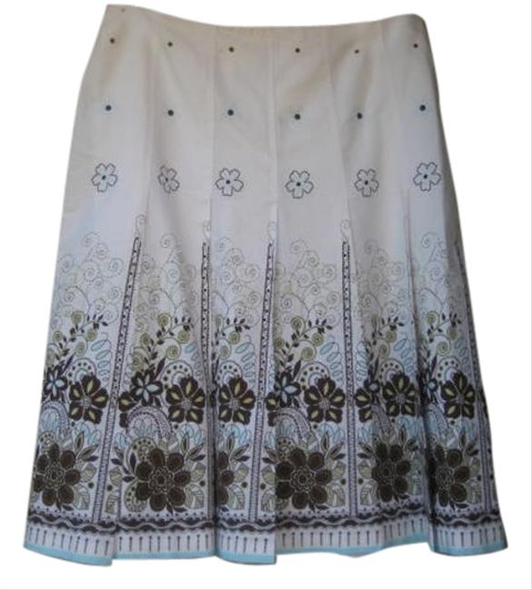 Tribal Pleated Floral Skirt