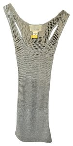 YA-YA short dress Silver Knitted Shimmery on Tradesy