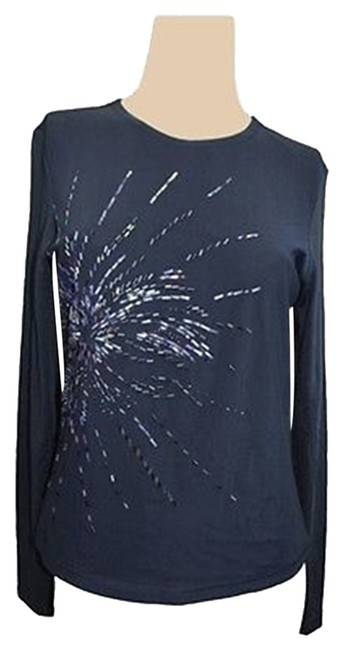 Preload https://item5.tradesy.com/images/no-tag-found-navy-blue-stretch-embellished-top-5113699-0-0.jpg?width=400&height=650